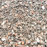 recycled crushed brick and concrete